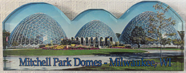 Mitchell Park Domes Refrigerator Magnet